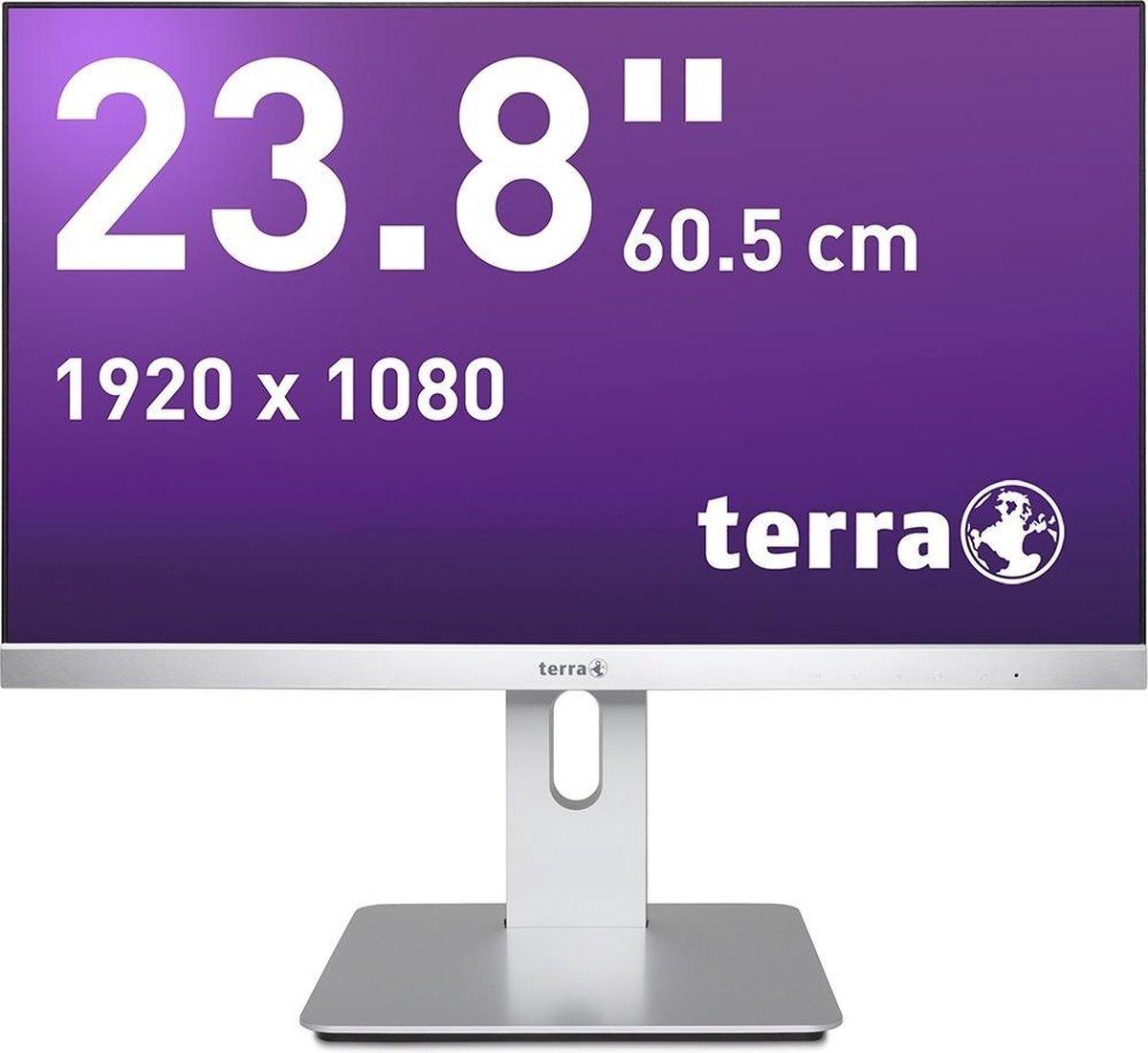 Wortmann AG TERRA 2462W 60,5 cm (23.8) 1920 x 1080 Pixels Full HD LED Zwart, Zilver