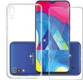 Samsung Galaxy A50 Hoesje Transparant TPU + Glazen Screenprotector