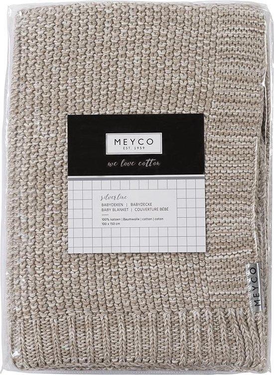 Meyco Silverline Relief Mixed ledikantdeken - 100 x 150 cm - zand