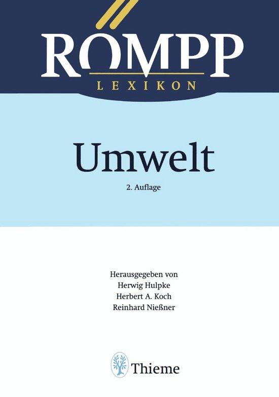 Boek cover RÖMPP Lexikon Umwelt, 2. Auflage, 2000 van Hans Bonka (Onbekend)