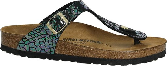 Birkenstock Gizeh Sportieve slippers Dames Maat 35 Multi Shiny Snake Black BF