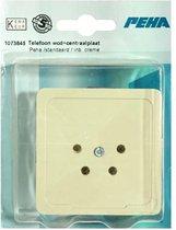 PEHA STANDAARD telefoon wandcontactdoos + centraalplaat | CREME