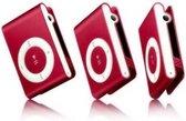Mini MP3 speler met in-ear koptelefoon Rood