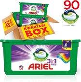 Ariel Colour & Style 3in1 Pods - Kwartaalbox 90 Wasbeurten - Wasmiddel Capsules