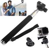 Proqam Selfie stick met GoPro adapter voor GoPro Hero 4/3/2/1 en SJCAM SJ4000/SJ5000/M10 en andere action cams (selfie stok monopod)