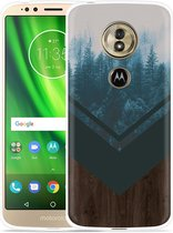 Moto G6 Play hoesje Forest wood