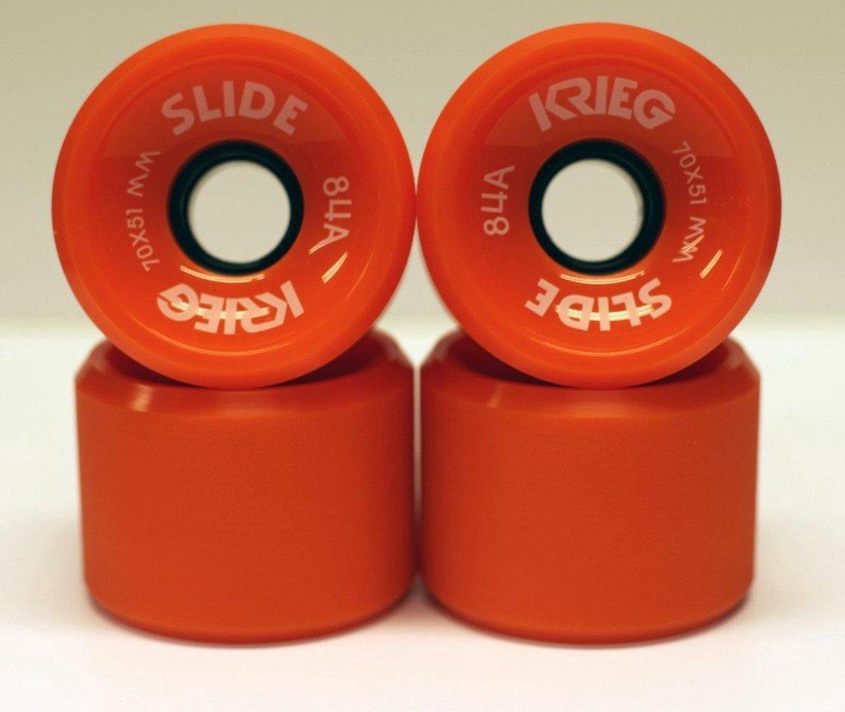 Krieg longboard wiel dull orange