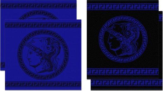 DDDDD Minerva - Thee- en Keukendoeken Set - Blue - 2 x 2 Stuks