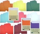 40 Boek Kaarten - 10 Kleuren - met envelop - Maak zelf mooie Kaarten in de vorm van een boek