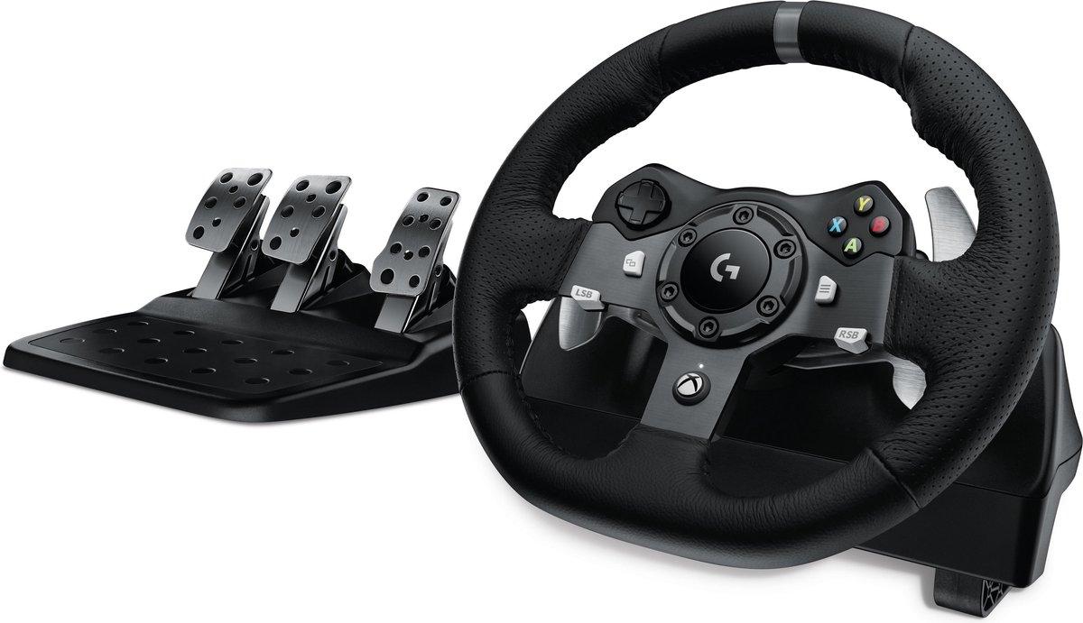 Logitech G920 Driving Force - Racestuur en Pedalen - Xbox Series X S, Xbox One & PC