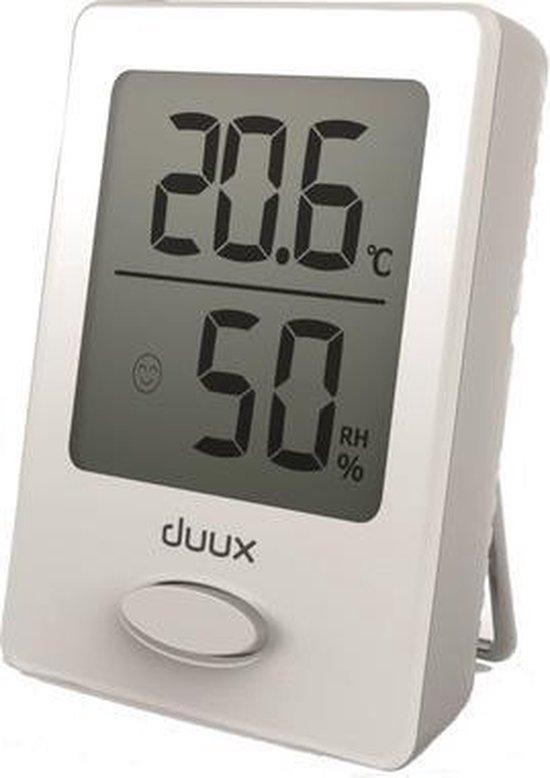 Duux Sense Hygrometer + Thermometer Wit - Batterij - Magneetbevestiging
