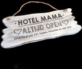 Wandborden Hout Spreukbord Hotel Mama Woondecoratie Cadeau Moederdag Verjaardag