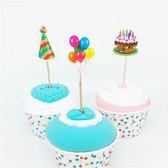 cocktailprikkers - Feest - cocktail prikkertjes cupcake toppers - 9 stuks