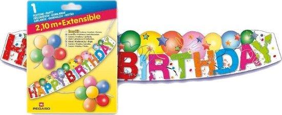 Pegaso Feestversiering Happy Birthday 210 Cm