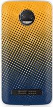 Motorola Z2 Force Hoesje geel blauwe cirkels