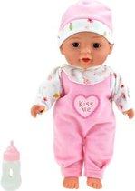 Toi-toys Liggende Babypop Met Flesje 30cm
