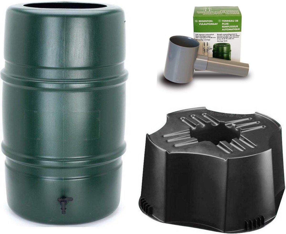Harcostar Regenton set Groen 114 liter - incl. vulautomaat en voet - complete set