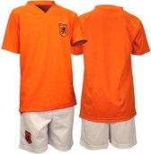 Voetbalset Supporter - Junior - Oranje/Wit - Maat 128