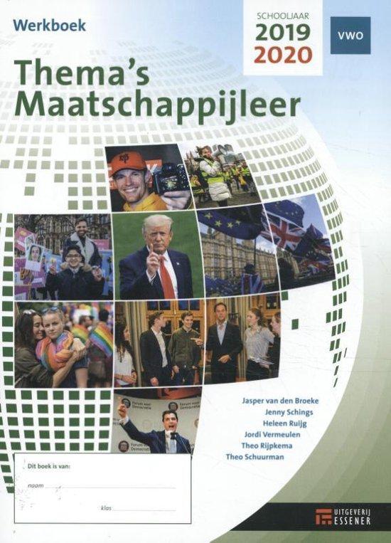 Thema's Maatschappijleer VWO 2019-2020 Werkboek - Heleen Ruijg  