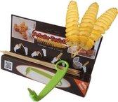 Potato Twister - Aardappel Spiraalsnijder - Incl. Satéstokjes - Lime Groen