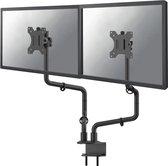 Neomounts by Newstar Ergonomische Dubbele Monitor Arm - t/m 30 - Kantelbaar / Draaibaar / Zwenkbaar – Zwart