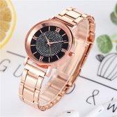 Dames Horloge met Steentjes • Steentjes • Roze • Zwart • Rood • Blauw • Groen • Paars • Bruin