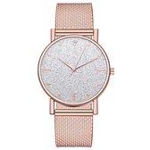 Modern Dames Horloge • Fashion • Rosegold • Roze • Zwart • Zilver • Rood • Blauw • Groen • Paars