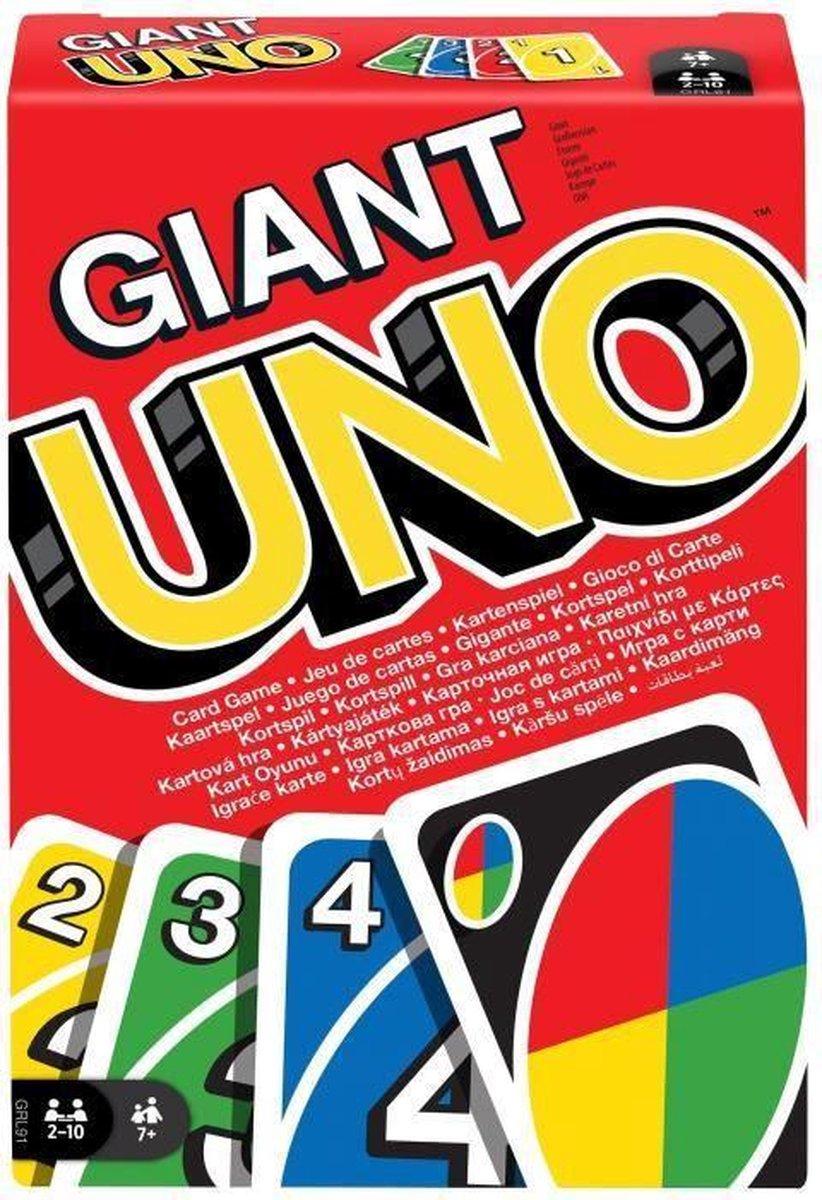 UNO G...ANT Gigantisch kaartspel - 2 tot 10 spelers - 7 jaar en ouder