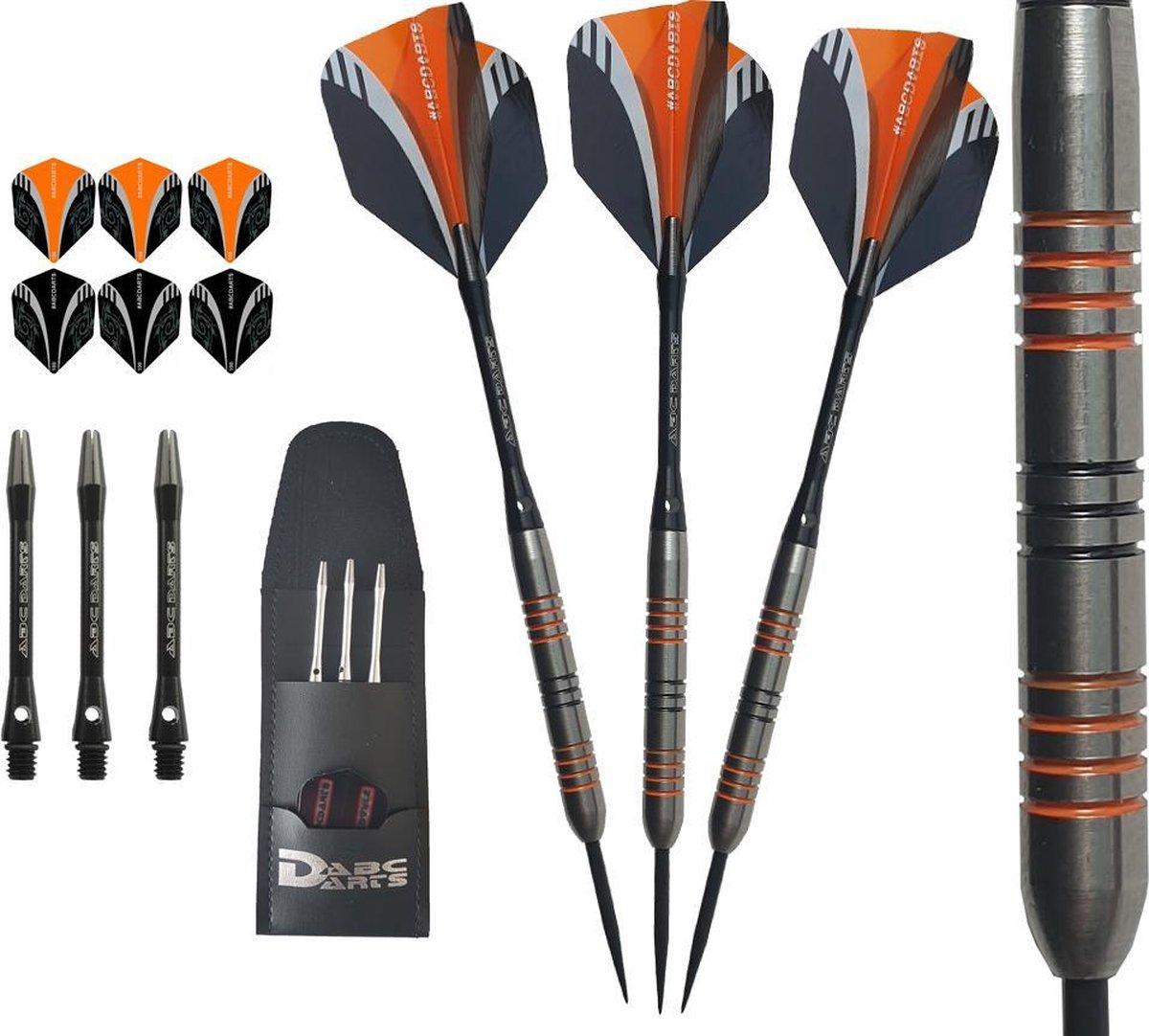 ABC Darts - 90% Tungsten HQ Dartpijlen - Orange Viper - 22 Gram
