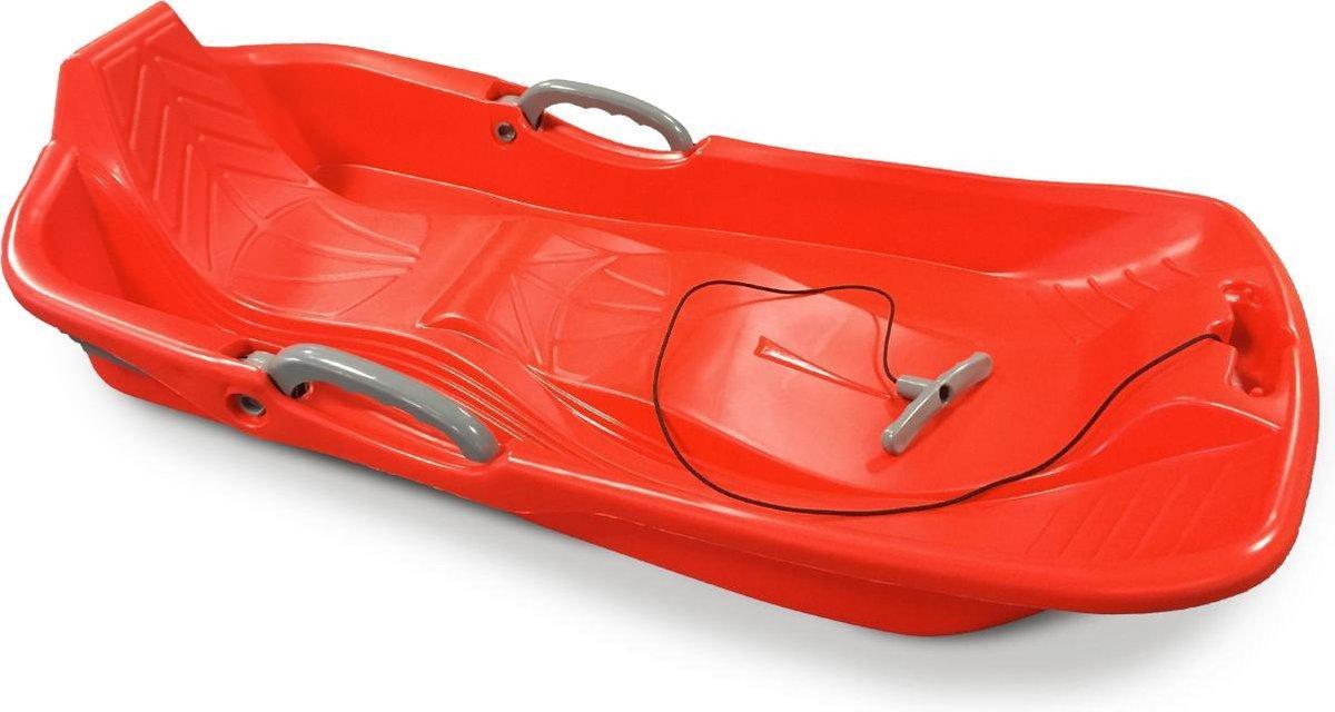 2-zits rode slee met remmen, touw en handvat, trekslee, Made in France