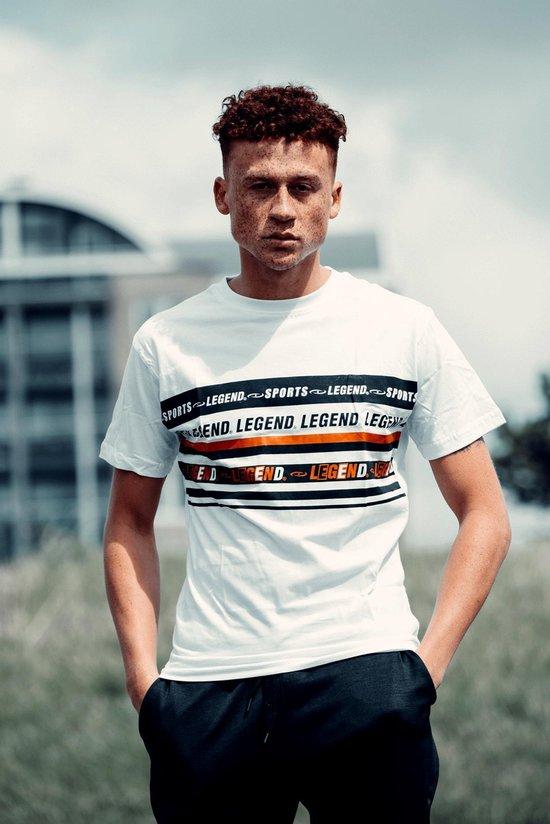 T-Shirt Wit Legend Sports  XXL