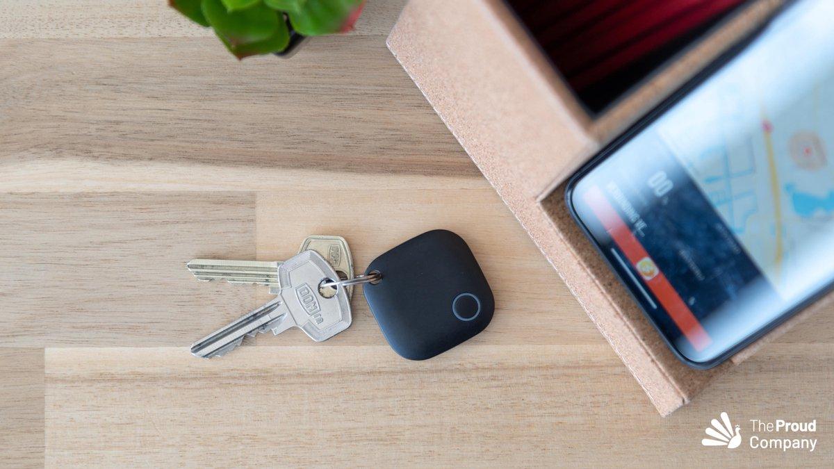 SHERLOCK - Mini GPS Tracker - GPS Tracker - Bluetooth Key Finder - Key Finder - Sleutelvinder - Track & Trace Volgsysteem - Volgsysteem Voor kind / Auto / Scooter / Fiets / Kat / Hond - Zwart - Gratis App -
