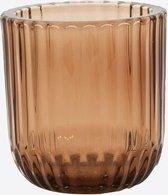 Point-Vergule - Theelichthouder glas Mokka - 9.3cm