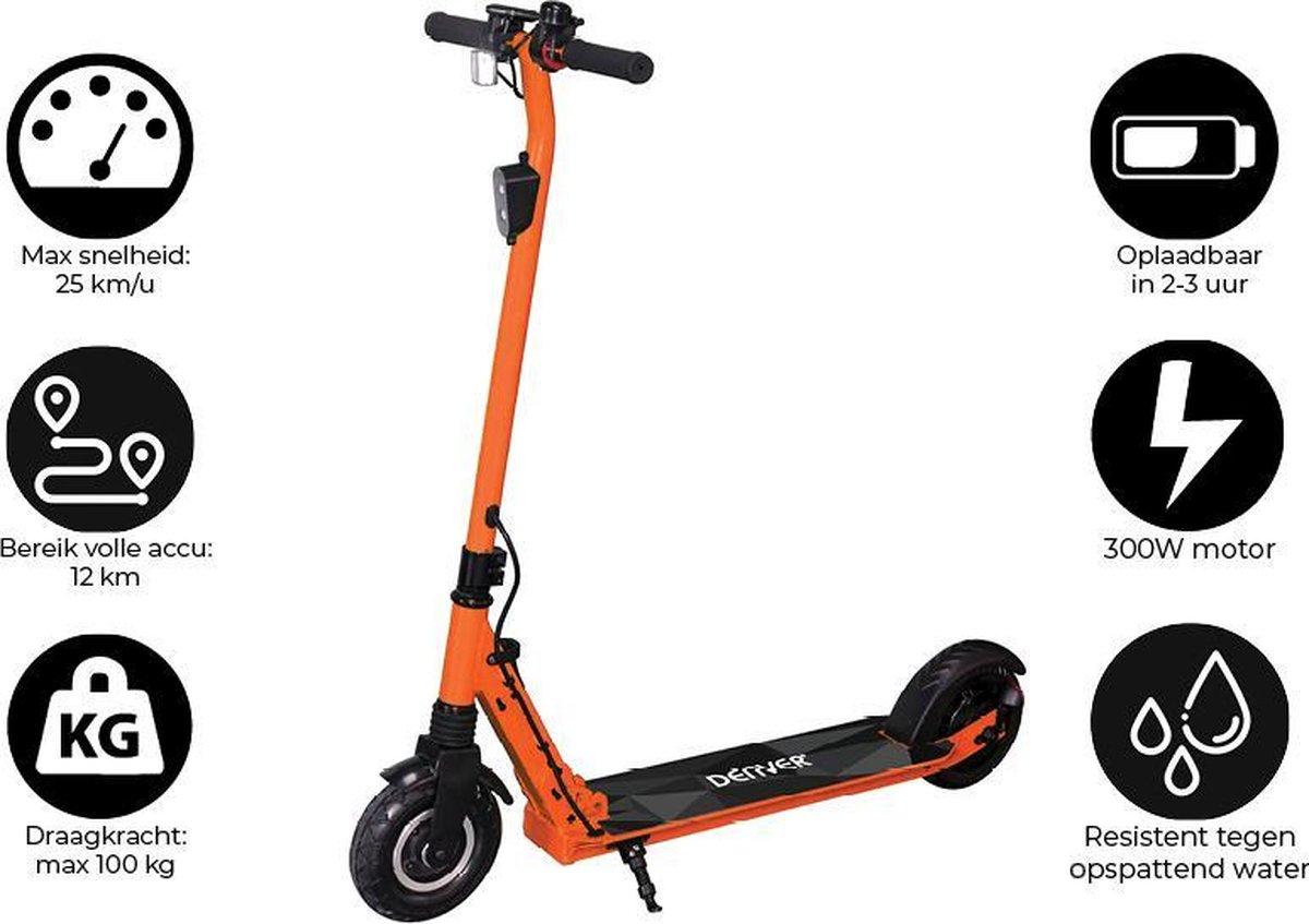 Denver SEL-80130F - 8'' Elektrische step - 25 km/u - E-Step met aluminium frame - E-Scooter - Oranje