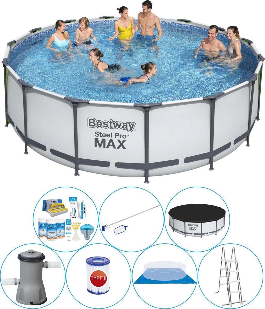 Bestway Steel Pro MAX Rond 457x122 cm - Zwembad Pakket