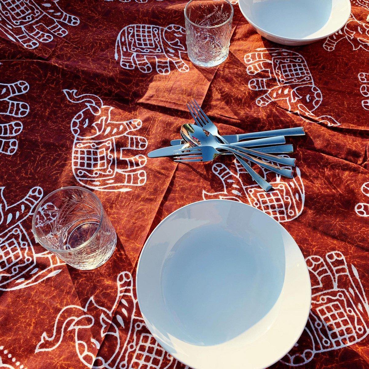 Strandlaken - Oranje - Olifant - XXL - HANDMADE - Picknickkleed - Katoen