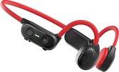 PowerLocus Bone Conduction oordopjes - OpenEar Bluetooth oordopjes met Microfoon - Rood