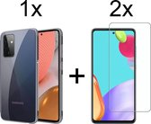 Samsung A52/A52s hoesje transparant - Samsung Galaxy A52 4G/5G/A52s hoesje case siliconen hoesjes cover hoes - Hoesje Samsung A52/A52s - 2x Samsung A52/A52s Screenprotector