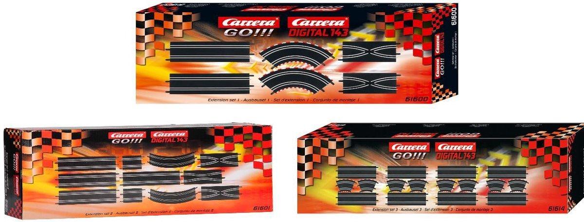 Carrera GO!!! - Uitbreiding Set 1+2+3