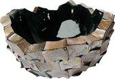 Schelpen vaas broken bowl 40cm bruin