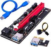 Mining Riser VER009 USB 3.0 - Crypto-mining ~ Mining ~ 6-pin adapter ~ ETH Mining ~ PCI-E GPU