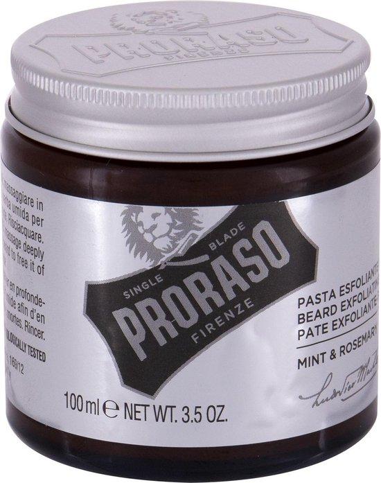 Proraso - Mint & Rosemary Beard Exfoliating Paste Peeling - Peelingová čisticí pasta na vousy a pleť