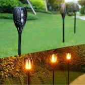 Solar Tuinfakkels - 6 stuks - 40 cm - met vlam-effect