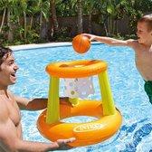 Intex Waterbasketbal Set Floating Hoops - oranje/groen 67 x 55 cm