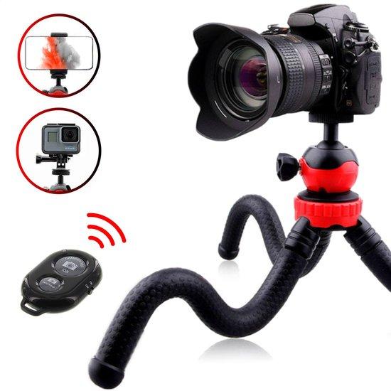 TENTA® 3 in 1 Flexibel Statief voor Smartphone, Camera en GoPro – Mini...