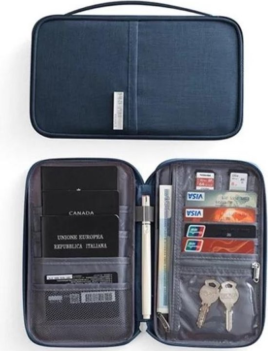 Paspoorthouder - Travel wallet - Document houder - Travel Organizer- Reis portemonnee