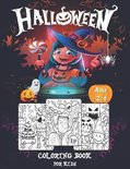 Halloween Coloring Book For Kids Ages 2-4