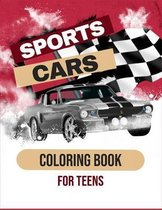 Sports Cars Coloring Book For Teens