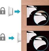 EasyOrdering 10 Magneet kindersloten + 2 Magneet sleutels - 1 installeer tool - kinderslot kastjes - Kinderslot met 3M tape