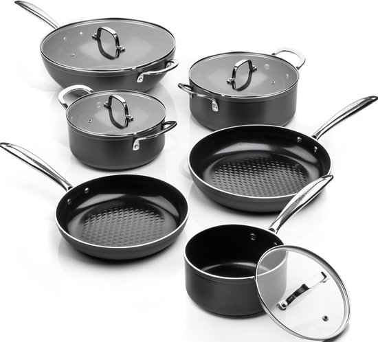 ISENVI Victoria Forged Compleet Pannenset 6 delig - RVS grepen
